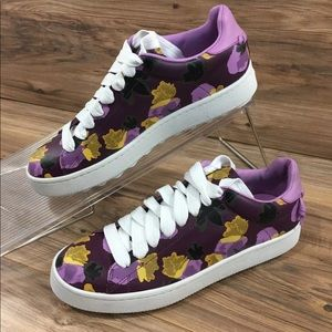 Coach Low Top Lace Up Signature Floral Print New